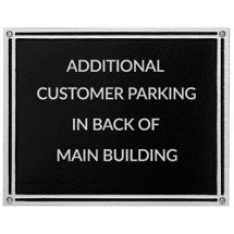 "10 x 8"" Large Outdoor Cast Aluminum Black Plaque"