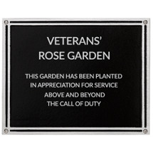 "8 x 6"" Medium Outdoor Cast Aluminum Black Plaque"