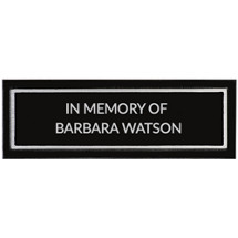 "9 x 3"" Outdoor Cast Aluminum Black Plaque"