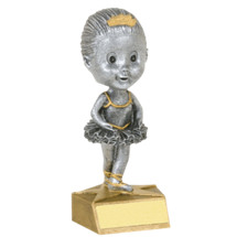 "Ballerina Bobblehead - set of 2 - 5 1/2"" Bobbleheads"