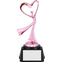 "Dance Trophy - 8"" Pink All-Star Heart Dancer Trophy"