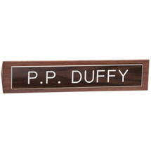 "10 1/2 x 2"" Name Placard with Brown Plate"