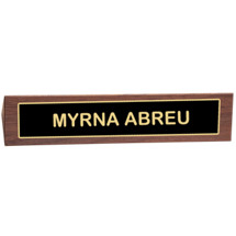 Black Brass Name Plate Placard