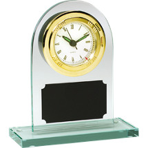 Rounded Acrylic Deskset and Quartz Clock