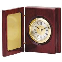 Folding Quartz Clock Desk Set with Engraving Plate