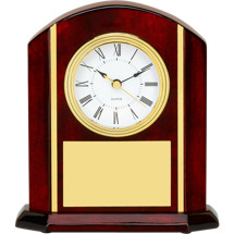 Rosewood Clock Deskset