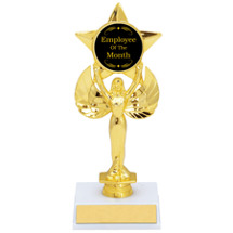Achievement Star Emblem Trophy | Employee of the Month