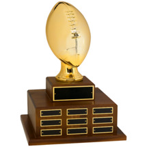 "18"" Official Size Football Perpetual Award"