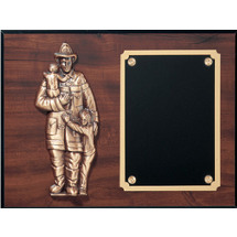 "12 x 15"" Fire Department ""Protect the Children"" Plaque"