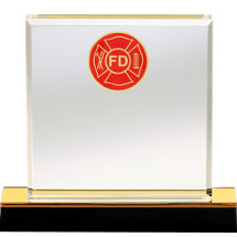 Beveled Edge Acrylic Fire Department Award