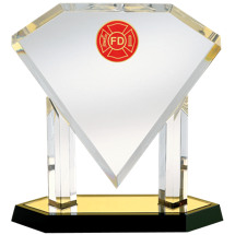 "Acrylic ""Diamond"" Fire Department Award"