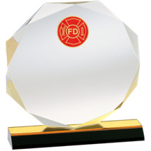 Octagonal Acrylic Fire Department Award
