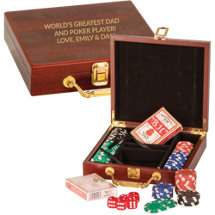 Personalized Rosewood Poker Set