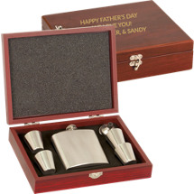 Custom Flask and Shot Glass Set