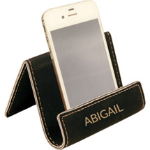 Custom Black  Leatherette Phone Easel
