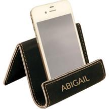 Custom Black  Leatherette Phone Easel