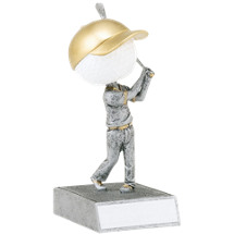 Golf Bobblehead - Golf Trophy Bobblehead