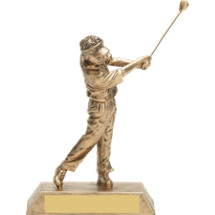 "8"" Gold Male Golf Resin Trophy"