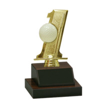 """7 1/2"""" Golf Display Trophy with Black Plate"""