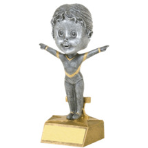"Gymnast Bobblehead - set of 2 - 5 1/2"" Bobbleheads"