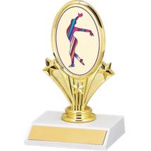 Gymnastics Oval Emblem Trophy