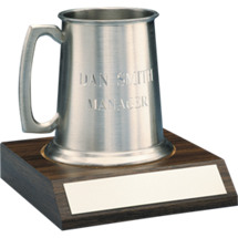 16 oz. Pewter Tankard with Base