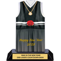 Happy New Year 2019 - Evening Gown Trophy - 7 inches