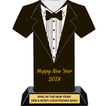 Happy New Year 2019 - Tuxedo Trophy - 7 inches