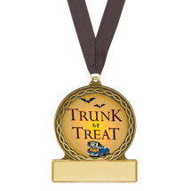 Halloween Medal - Trunk or Treat Halloween Medal with Free Black Neck Ribbon