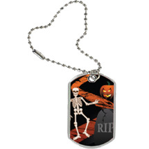 Halloween Tag with Key Chain
