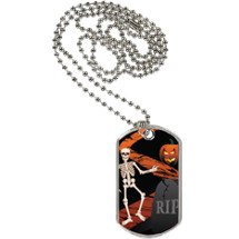 Halloween Tag with Neck Chain