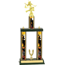 Halloween Trophy - Witch Trophy with Double Haunted House Columns