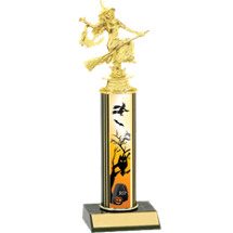 Halloween Trophy - Witch Trophy with Haunted Evening Design