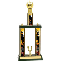 Halloween Trophy - Pumpkin Trophy with Haunted House Columns