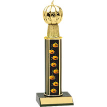 Halloween Trophy - Round Column Pumpkin Trophy