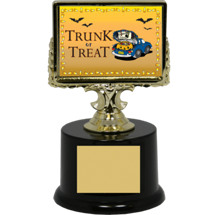 "Halloween Trophy - Black Acrylic ""Trunk or Treat"" Trophy"