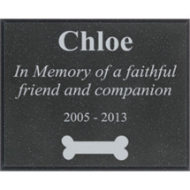 "10 x 8"" Outdoor Black AcrylaStone Plaque"