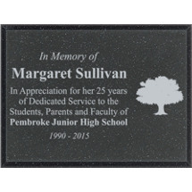 "8 x 6"" Outdoor Black AcrylaStone Plaque"