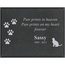 "9 x 7"" Outdoor Black AcrylaStone Plaque"