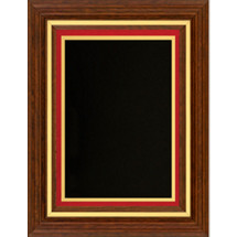 Classic Plaque with Burgundy Felt Border - 11 1/2 x 13 1/2""
