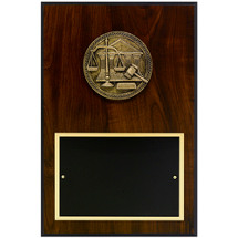 "8 x 12"" Scale of Justice Plaque"