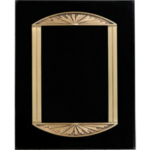 Personalized Black Plaque with Black Brass Plate