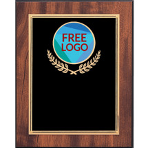 "Custom Plaque - 8 x 10 - 9 x 12"" Black Brass Plaque with Custom Logo Emblem"