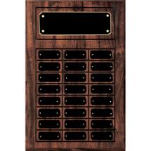 """11 3/4 x 18 3/4"""" Classic Perpetual Plaque - 24 Nameplates"""