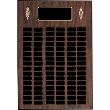 "16 x 22"" Perpetual Plaque - 70 Nameplates & Torch Trim"
