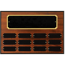 "12 x 9"" Honoree of the Month Perpetual Plaque - 12 Nameplates"