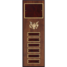 "5 x 15"" Burgundy  Perpetual Plaque - 6 Nameplates"