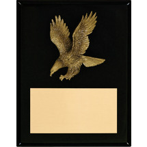 "7 x 9"" Black High Gloss Plaque with Eagle"