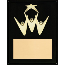 Team Work - Black High Gloss Plaque