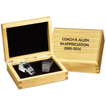 Silver Coach Whistle in Personalized Box